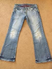 New River Island Ripped Jeans Size 10