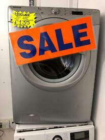 HOOVER 7KG DIGITAL SCREEN WASHING MACBINE IN SILIVER