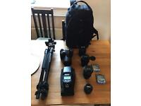 Nikon D7200 with lenses etc