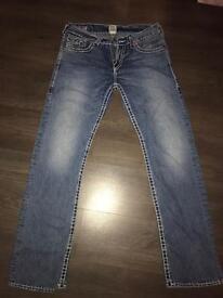 """True religion jeans 34""""waist 34"""" long"""