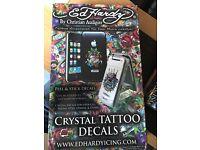 Ed Hardy Crystal Tattoo Decal display stand, Tattooist, shop display