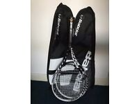 2 x Babloat E-Sense Comp 100sq inch Tennis Racquet + With Covers