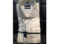 New Racing Green Mens Shirt (size 17 - light yellow/ivory)