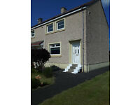 2 bed end terrace house with substantial garden in Cleland . Offers over £68000