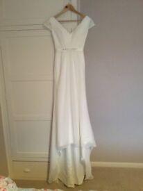 Lovely size 6 white wedding dress