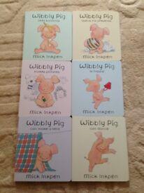 6x Wibbly Pig Board Books