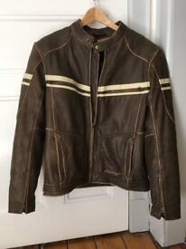 RST Brown Leather Biker Jacket