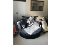 Large cuddle chair swivel chair Love chair
