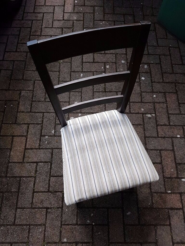 4 used pine chairs in dark brown with fabric coversin Woodford, LondonGumtree - All in good to reasonable condition although 2 require a bit of attention underneath as are a bit wobbly. Selling as a set only for £8 for all 4
