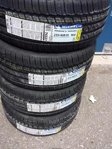 BRAND NEW WITH LABELS MICHELIN  ULTRA HIGH PERFORMANCE ' V ' RATED 235 / 40  / 19 ALL SEASON TIRE SET OF FOUR