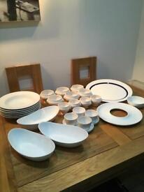 White Dinner Tableware - 27 pieces