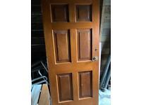 Hardwood 6 Panel Solid Door 90cm x 200cm