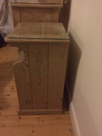 Antique pine dressing table and 2 cabinets