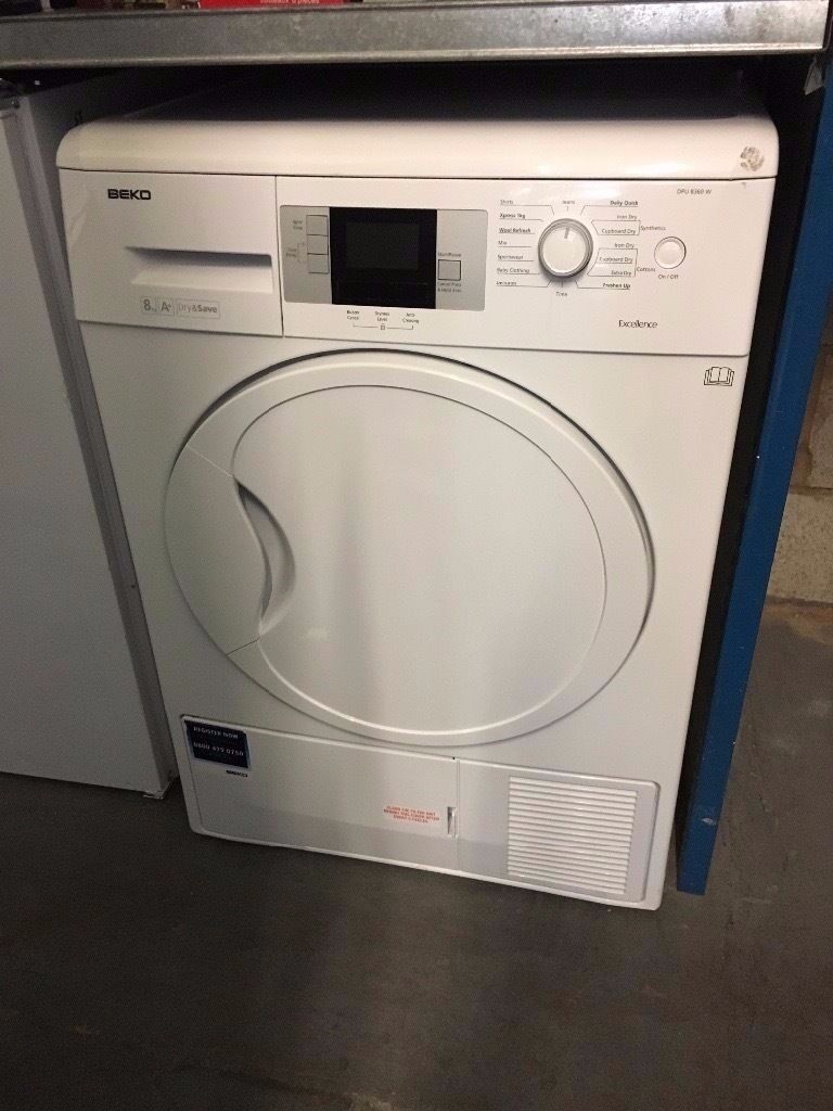 BEKO 8KG A HEAT PUMP CONDENSER DRYER WHITE RECONDITIONEDin Hockley, West MidlandsGumtree - APPLIANCE IS RECONDITIONED/TESTED AND COMES WITH 3 MONTHS GUARANTEE WE ALSO DELIVER. PLEASE CONTACT US FOR FURTHER DETAILS 60 GREAT HAMPTON STREET HOCKLEY BIRMINGHAM B18 6EN 01215548844/07854350831