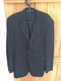 Black Pinstripe Jacket- 42L