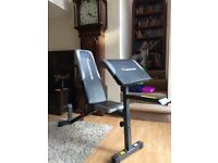 Maximuscle weight bench with preacher curl