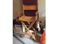 Super sized orange funky director chair