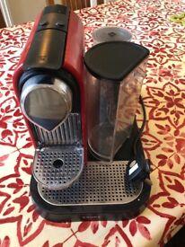 Red Krups Nespresso Machine