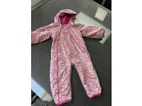 JoJo Maman Bebe fleece lined all in one waterproof coat 18-24mths