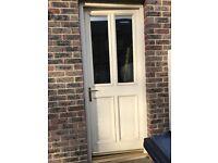 Solid Timber Cream External Door
