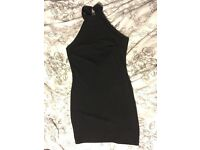 Black, size 10 high neck dress