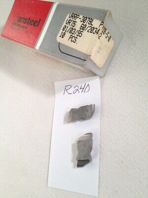 10 New Vrwesson Nr 3078l .156 Wide Top Notch Carbide Inserts Gr Vr75. R240