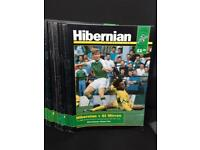 Hibernian (Hibbs) Football Club Official Programmes for sale Season 1991-92 and others