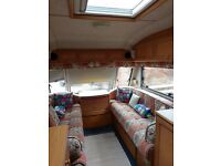 Two berth Avondale Avocet Touring Caravan for sale in good condition, no damp.