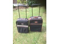 2 x travel suitcases one suitcase anucci one apollo
