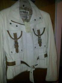 Brand new bespoke ladies leather jacket