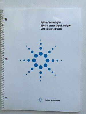 Agilent 89441a Vector Signal Analyzer Getting Started Guide Pn 89441-90076