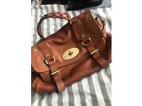 Tan designer style leather bag