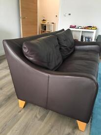 Leather sofa Habitat