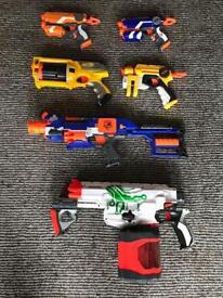 Nurf guns - 6 of them.