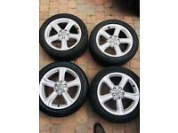 """Genuine Audi 17"""" Alloy Wheels with excellent Continental Tyres, suit A3 A4 Golf VW audi alloys"""