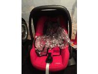 Red maxi cosi car seat