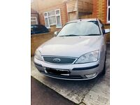 For sale ford mondeo tdi x 05 mot till March o5 good runner 6 speed gearbox £600 no offers