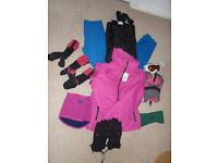 Bundle of ski clothing - mixed sizing. Worn for 1 school trip.