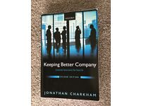 Book: Keeping Better Company, Corporate Governance Ten Years On by Jonathan Charkham