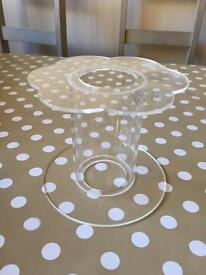 Round Flower Shaped 5 Inch High Perspex Cake Stand