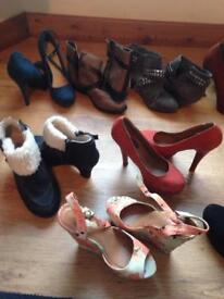 Bundle of women's shoes size 3-4
