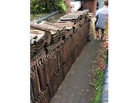 250 clay double roman tiles