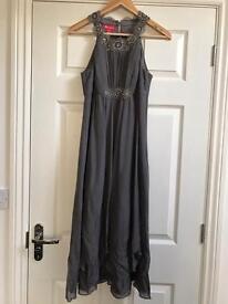Monsoon Grey Embellished Dress