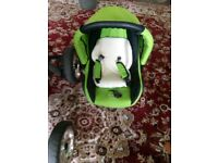 Baby buggy and car seat