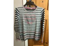 LOVELY UNUSUAL JUMPER - SIZE 10 EXCELLENT CONDITION