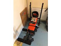 Weight bench, weights and long bar £50