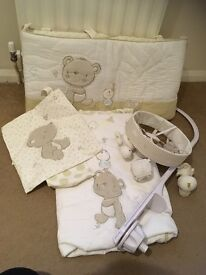 Mothercare Cot bumper, mobile and quilt