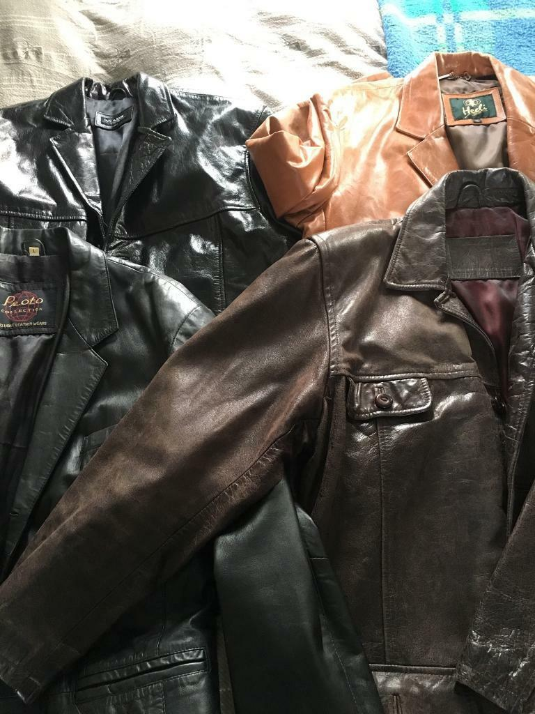 4 leather jackets used possible up cycle
