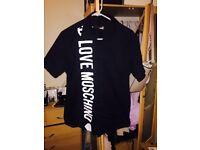 Mens Love Moschino Black & Whitw Shirt