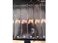 24 season 1-6 DVDS